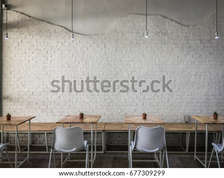 Interior design of a Happy Bones style, Coffee shop, cafe.
