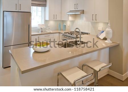 Interior design of a luxury modern kitchen