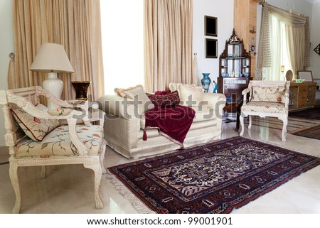 interior design of a sitting room