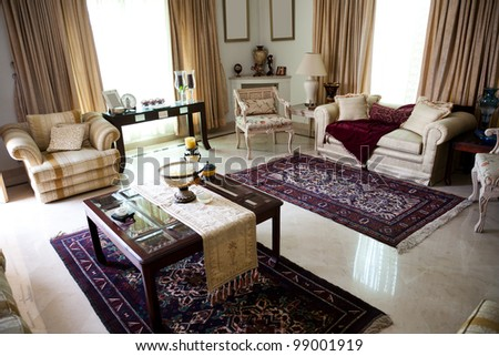 interior design of a sitting room