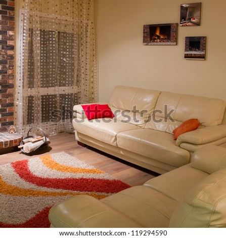 Interior design of living room in a new house