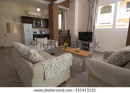 Interior design of luxury show home apartment with decor #135413132