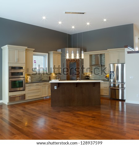 Interior design of modern kitchen