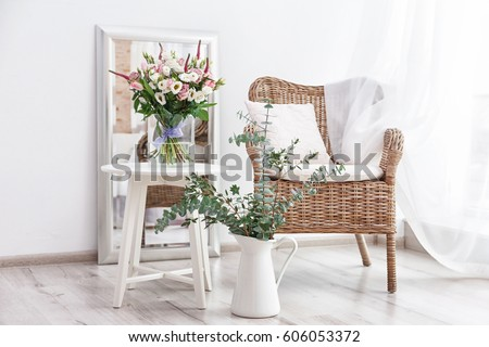 interior design of room with...