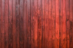 Interior Design Old Weathered Wood Plank Red Background extreme close up