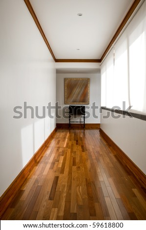 Interior Design Information on Interior Design Series  Classic Empty Hallway Stock Photo 59618800
