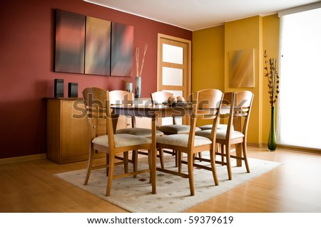 Dining Room on Modern Colorful Dining Room Stock Photo 59379619   Shutterstock