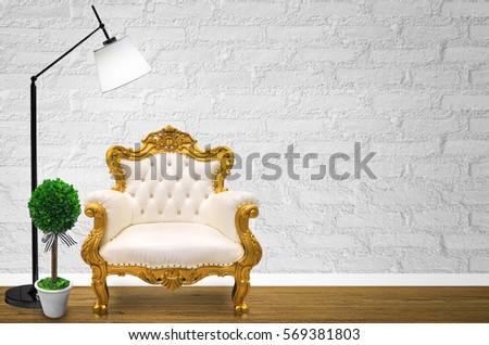 interior design with luxurious...
