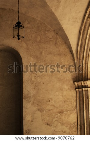 Interior detail of colonial building - hispanic monastery