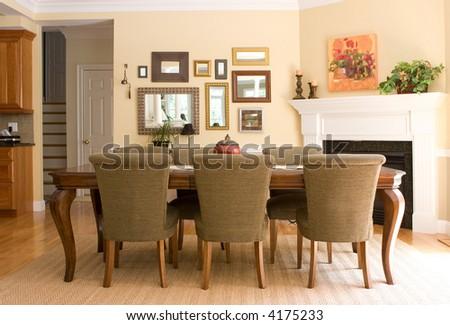 interior dining area - stock photo