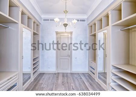 Interior dressing room.