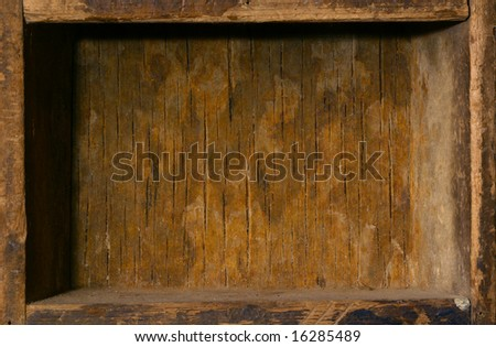 interior frame - old wooden box