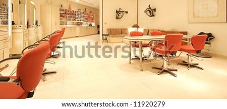 interior hair salon