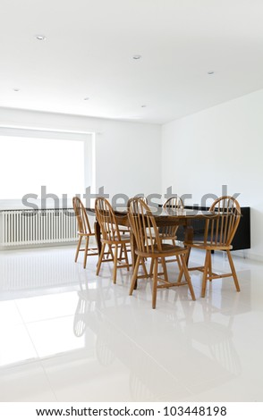 interior house,  dining table and chairs