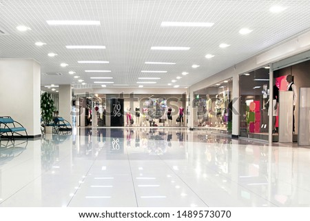 Interior in a modern shopping center