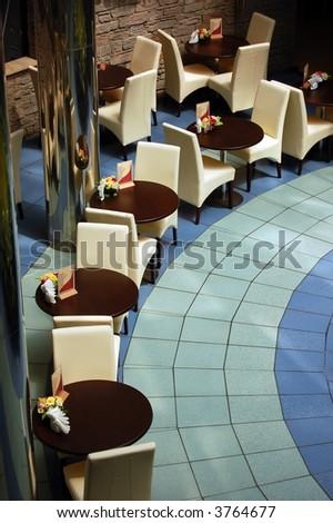Interior in cafe
