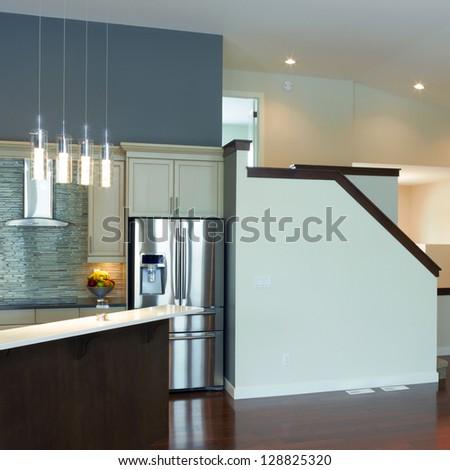 Interior kitchen design in a new house