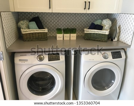 Interior Laundry Room #1353360704