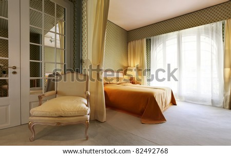 interior luxury apartment, comfortable bedroom