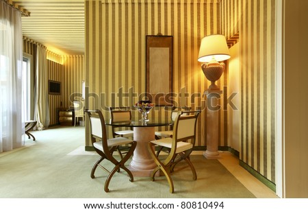 interior luxury apartment, comfortable dining room