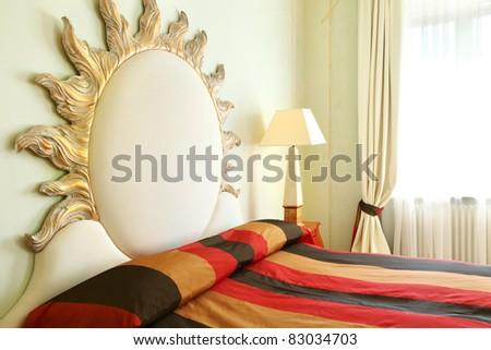 interior luxury apartment, comfortable suit, bedroom