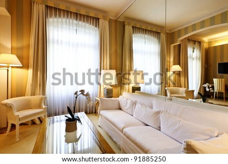 interior luxury apartment comfortable suite lounge