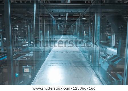 interior modern factory #1238667166