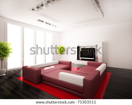 Interior modern rooms