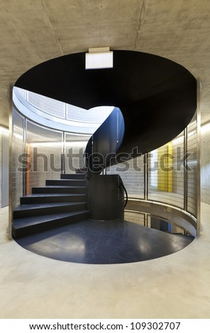 interior new building in cement, iron staircases #109302707