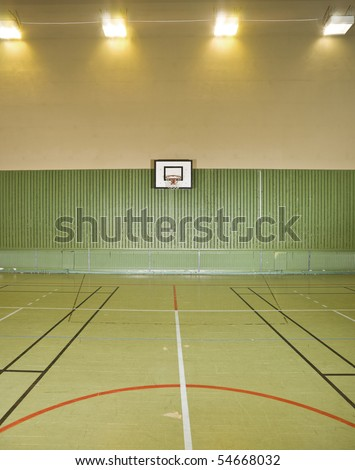 Interior of a basketball field