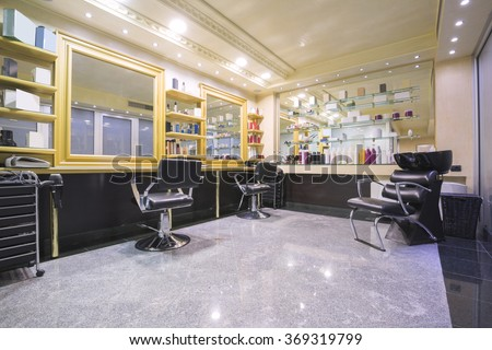 Interior of a beauty salon