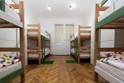 Interior of a bedroom in hostel