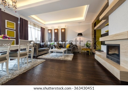 Interior of a bright living room #363430451