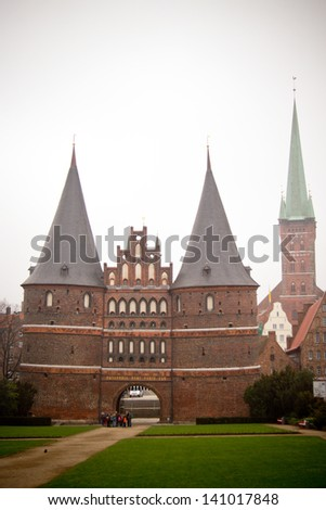 Interior of a church in Lubeck, North of Germany