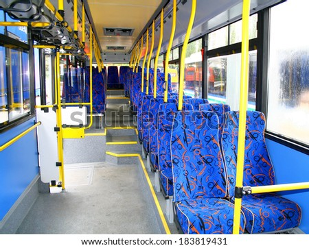 Interior of a city bus #183819431