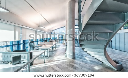 Interior of a company modern office.
