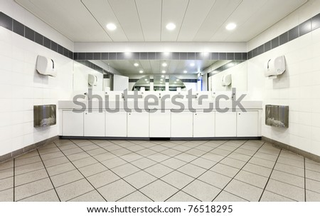 interior of a Congress Palace, public toilets