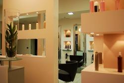 Interior of a empty modern fashionable beauty salon