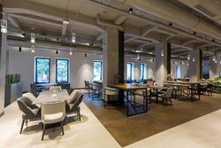 Interior of a empty modern hotel lounge bar