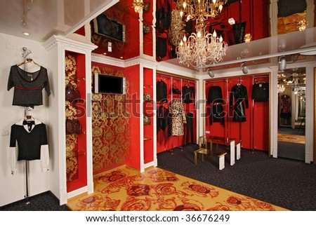 Interior of a fashionable boutique