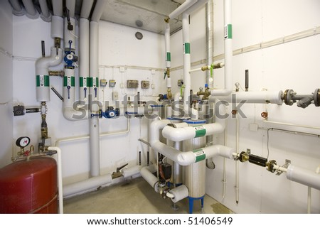 Interior of a Gas Boiler room