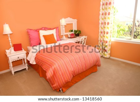 Interior of a girl's bedroom