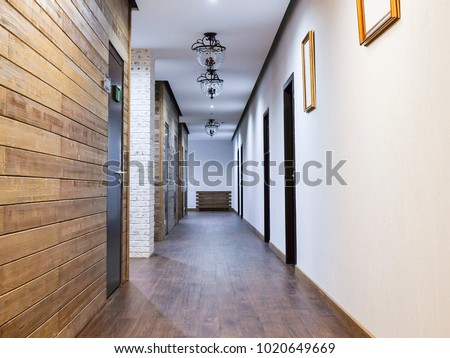 Interior of a hotel corridor #1020649669
