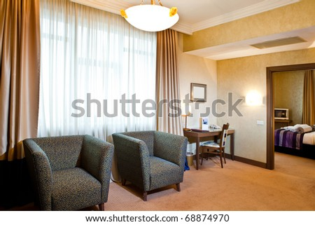 interior of a hotel room