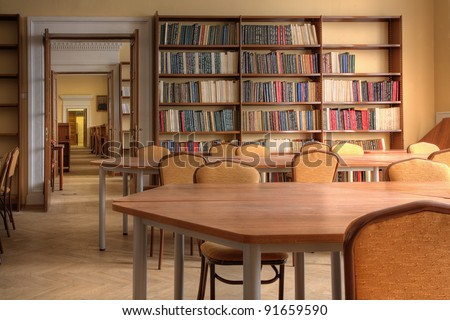 Interior of a library ( Photo HDR)