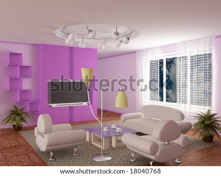 Interior of a living room. 3D image. #18040768