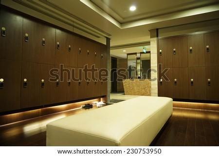 Interior of a locker/changing room