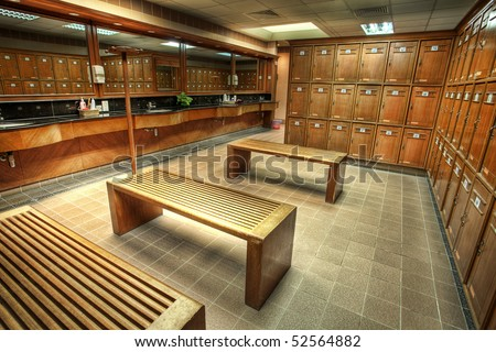 Interior of a locker/changing room in a country club