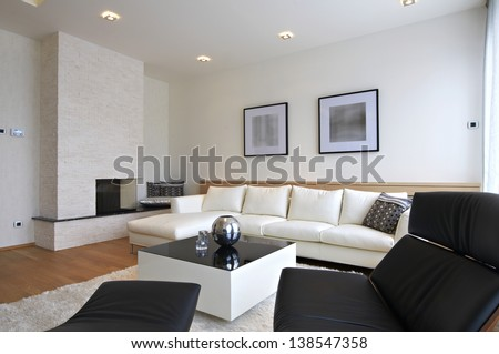 Interior of a luxury living room #138547358