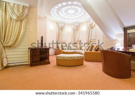 Interior of a luxury loft apartment